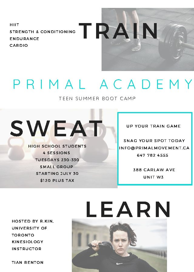 Train. Sweat. Learn.